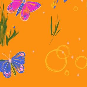 Gold Garden with butterflies