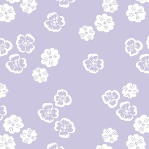 Vintage violet blossom autumn winter garden botanical vintage leaves and flowers fall nursery seventies style purple lavender