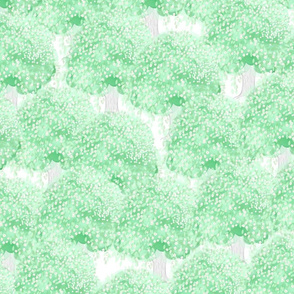 Summer toile trees Green