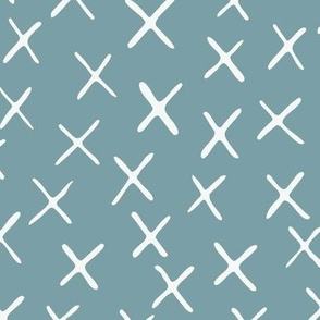 x marks the spot - chalky blue