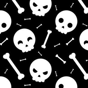 Skulls, skulls, skulls... and bones - Black