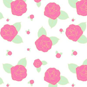 Pastel Roses - White