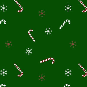 Candy Cane Snowflake Pattern