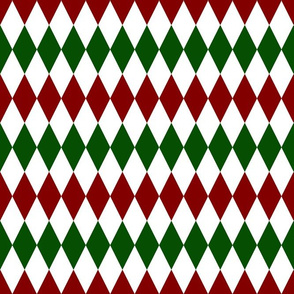 Green Red Argyle Santa's pyjama pattern