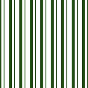 Green White Striped Christmas Pyjama Pattern