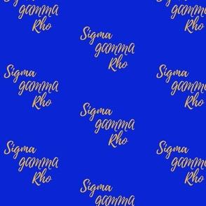 Sigma Gamma Rho fabric
