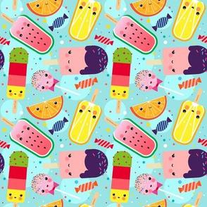 Kawaii Ice Cream Pattern