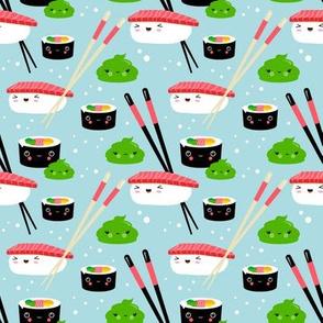Sushi Nigiri Maki and Wasabi Friends