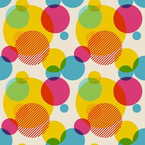 Dots in Yellow and Pink