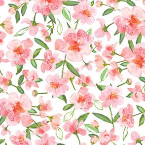 Blush Rose Floral, Large