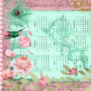 Happiness Hummingbird 2021 Linen FQ Tea Towel