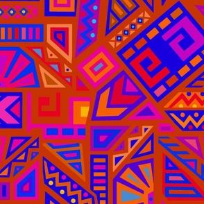 African Tribal Dance - Wallpaper Red