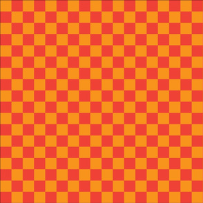 gold and orange checkers