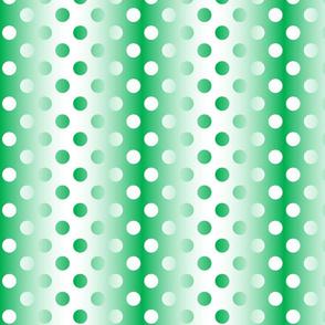 Grande green white gradient dots