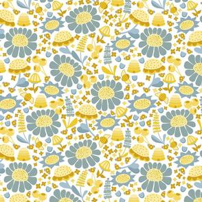 Yellow Blue Field