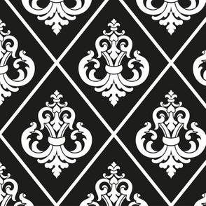 damask-black-white