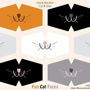 Cat face mask cut outs
