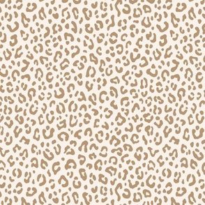 ★ LEOPARD PRINT in TAN & IVORY WHITE ★ Tiny Scale / Collection : Leopard spots – Punk Rock Animal Print