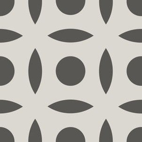 Geometric Pattern: Intersect Circle: Slate