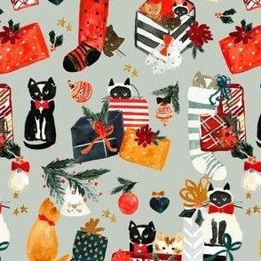 cats + presents