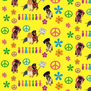 Peace Love and Dachshunds Medium