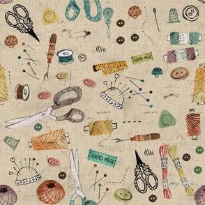 sewing tools - yellow