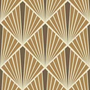Art Deco Fans - Brown