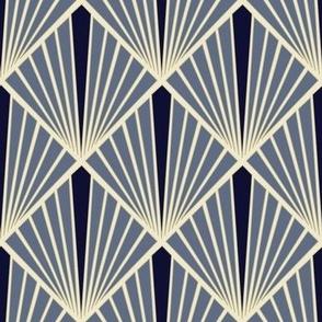 Art Deco Fans - Indigo