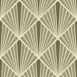 Art Deco Fans - Olive