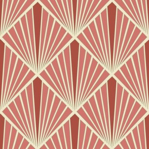 Art Deco Fans - Rose