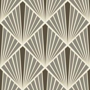 Art Deco Fans - Taupe