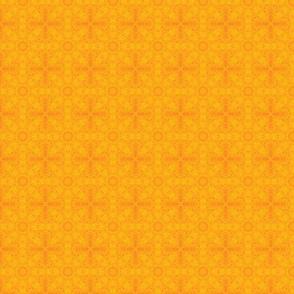 Star orange fabric