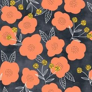 Modern floral (dark) (small scale)