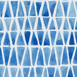 Blue Mosaic Triangles