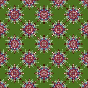 Rose Mandala on Green - Small