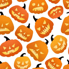 Large  scale / halloween pumpkins white background