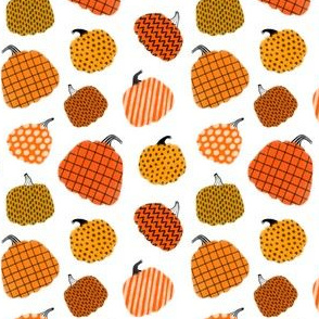 Small scale / pumpkins white background