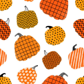 Large scale / pumpkins white background