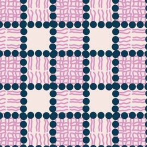 Phospholipid Bi-Layer Plaid (Navy and Pink)