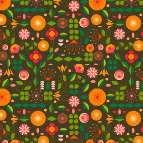 Verdure- Mod Scandi Florals- Regular Scale
