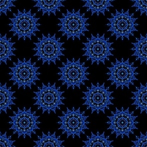 Noir Mandala Blue on Black - Small