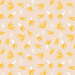 Funky bananas cool geometric banana kids fruit design spring summer tropical vibes yellow beige boys