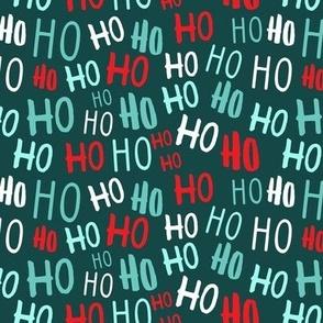 ho ho ho -  Christmas Santa - teal - LAD20