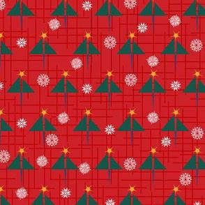 Geometric Christmas Trees and Snowflakes Paducaru