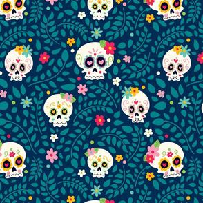 Sugar Skulls Floral