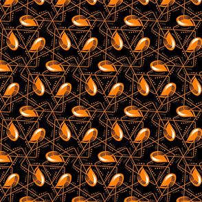 Teardrop Tile-orange