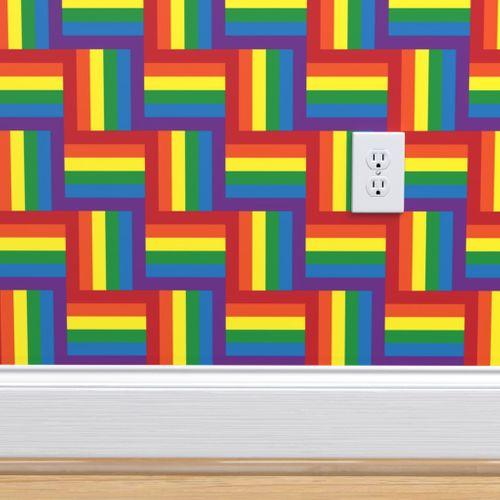 Hidden Rainbow Pride Flag Small Scale Spoonflower