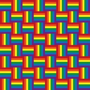 Hidden rainbow pride flag – small scale