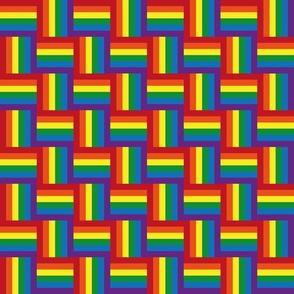 Hidden rainbow pride flag - small scale