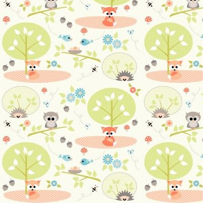 Woodland babies with blue - small